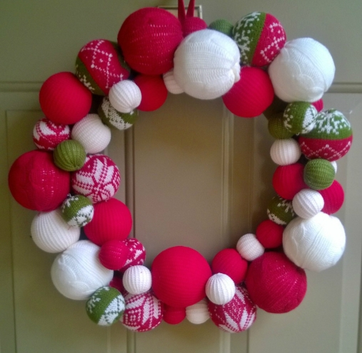 Target's Yarn Ball Christmas Wreath