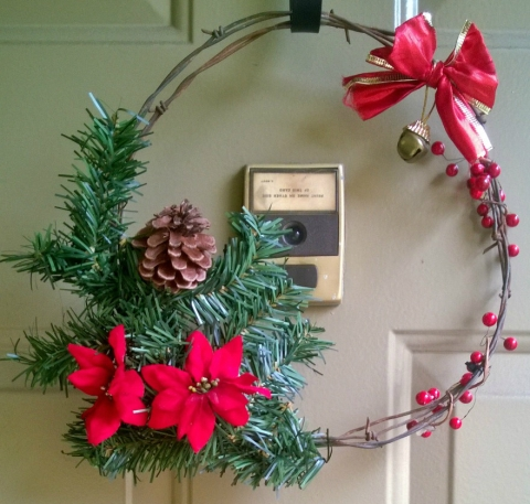 Barbed Wire Christmas Wreath