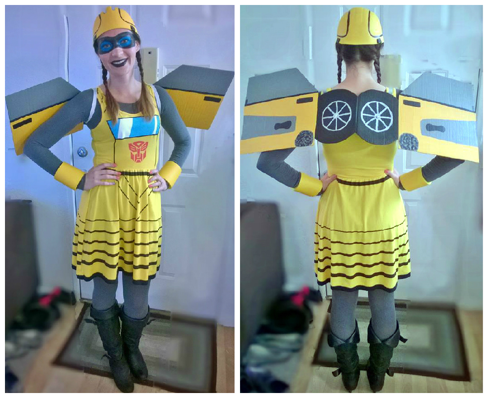 Diy bumblebee costume wrighting it down fotor1101104130 solutioingenieria Choice Image