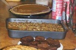 The only picture I could find, in the dessert buffet for a potluck for work (In the silver pan)