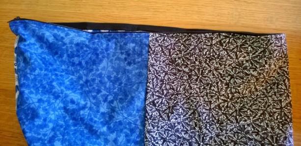 Zipper sewn in