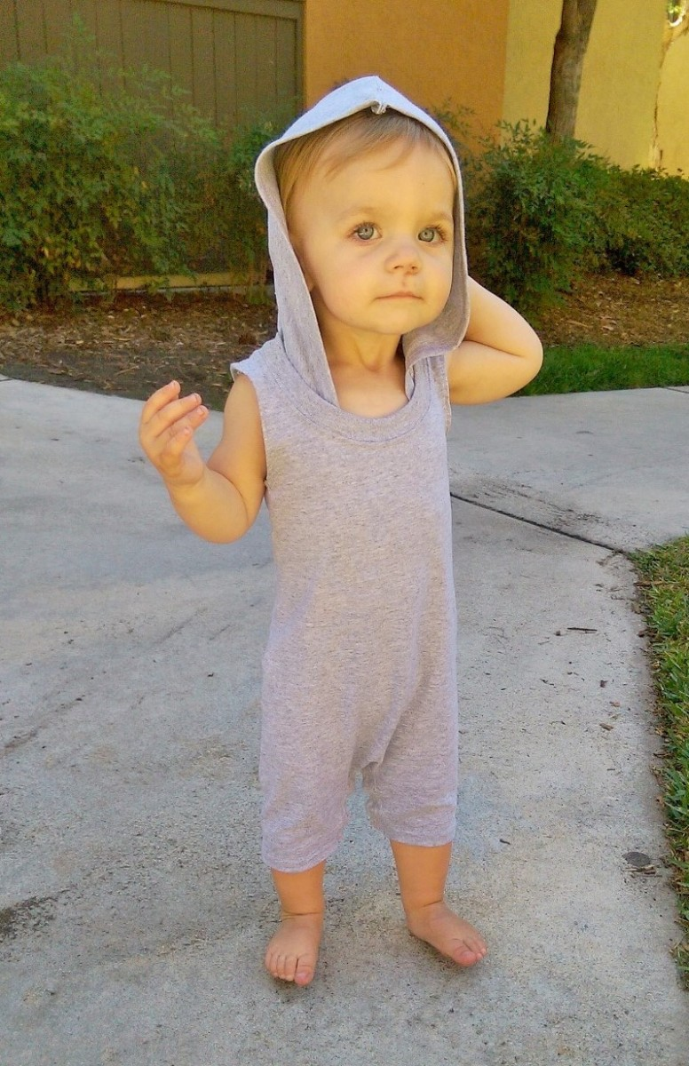 DIY Toddler Romper Out of a T-Shirt