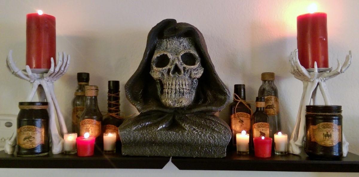 DIY Halloween Spell/Apothecary Bottles